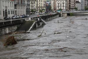 Fortes précipitations en Rhône-Alpes