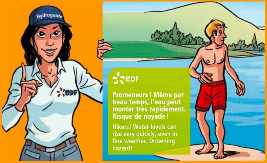 EDF Sensibilise le public aux risques liés aux aménagements hydroélectriques