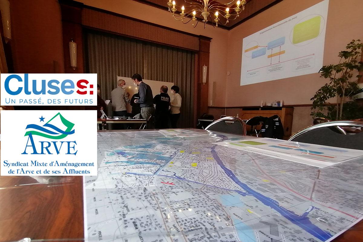 Entraînement sur table du PCS de la mairie de Cluses (Haute-Savoie) le 22 Janvier 2021