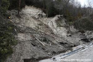 Glissement de terrain à Claix (Isère)