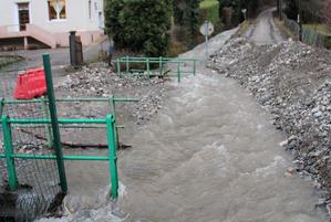 Crue du ruisseau de la Combe Noire sur la commune du Gua