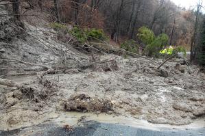 Glissement de terrain sur la RD 8b