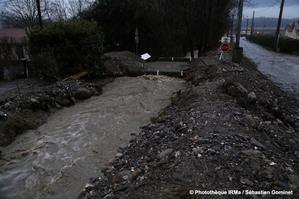 Crue torrentielle du ruisseau d'Hurtières sur la commune de La Pierre