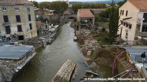 Inondations à Villegailhenc (Aude) le 15 octobre 2018