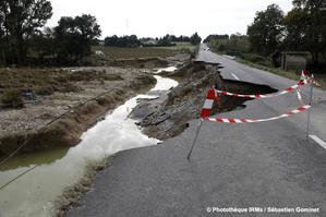 Inondations à Villemoustaussou (Aude) le 15 octobre 2018