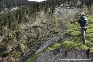 Glissement de terrain du Bersend à Beaufort (73)