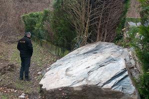 Eboulement dans la commune Champ-sur-Drac depuis le Conest