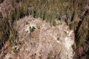 Réactivation du glissement de terrain du Châtelard de 2015